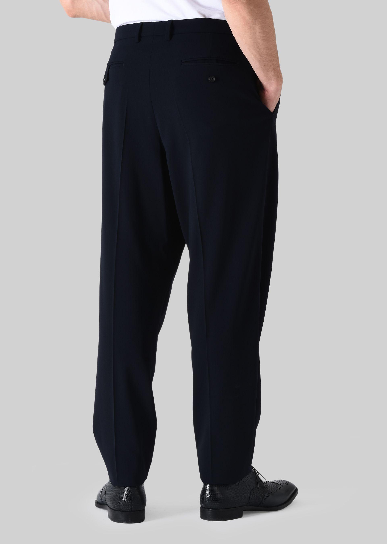 GIORGIO ARMANI PANTALONI CLASSICI IN TELA DI LANA STRETCH Pantaloni Casual U e