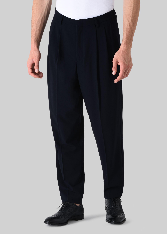 GIORGIO ARMANI PANTALONI CLASSICI IN TELA DI LANA STRETCH Pantaloni Casual U f