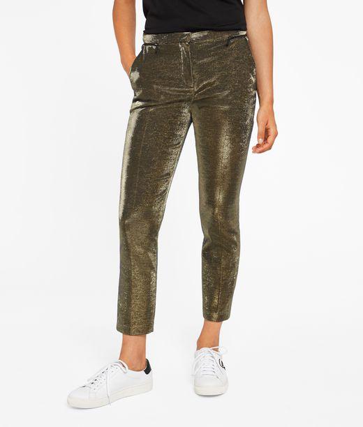 KARL LAGERFELD Gold Tuxedo Pants 12_f