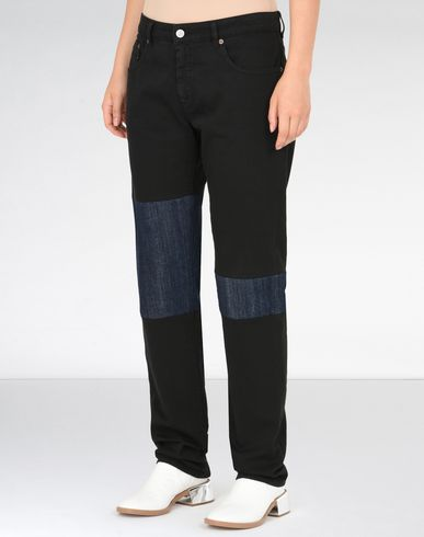 MM6 by MAISON MARGIELA Casual pants D Black patchwork jeans f