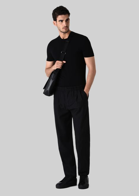 CASUAL STRETCH WOOL TROUSERS