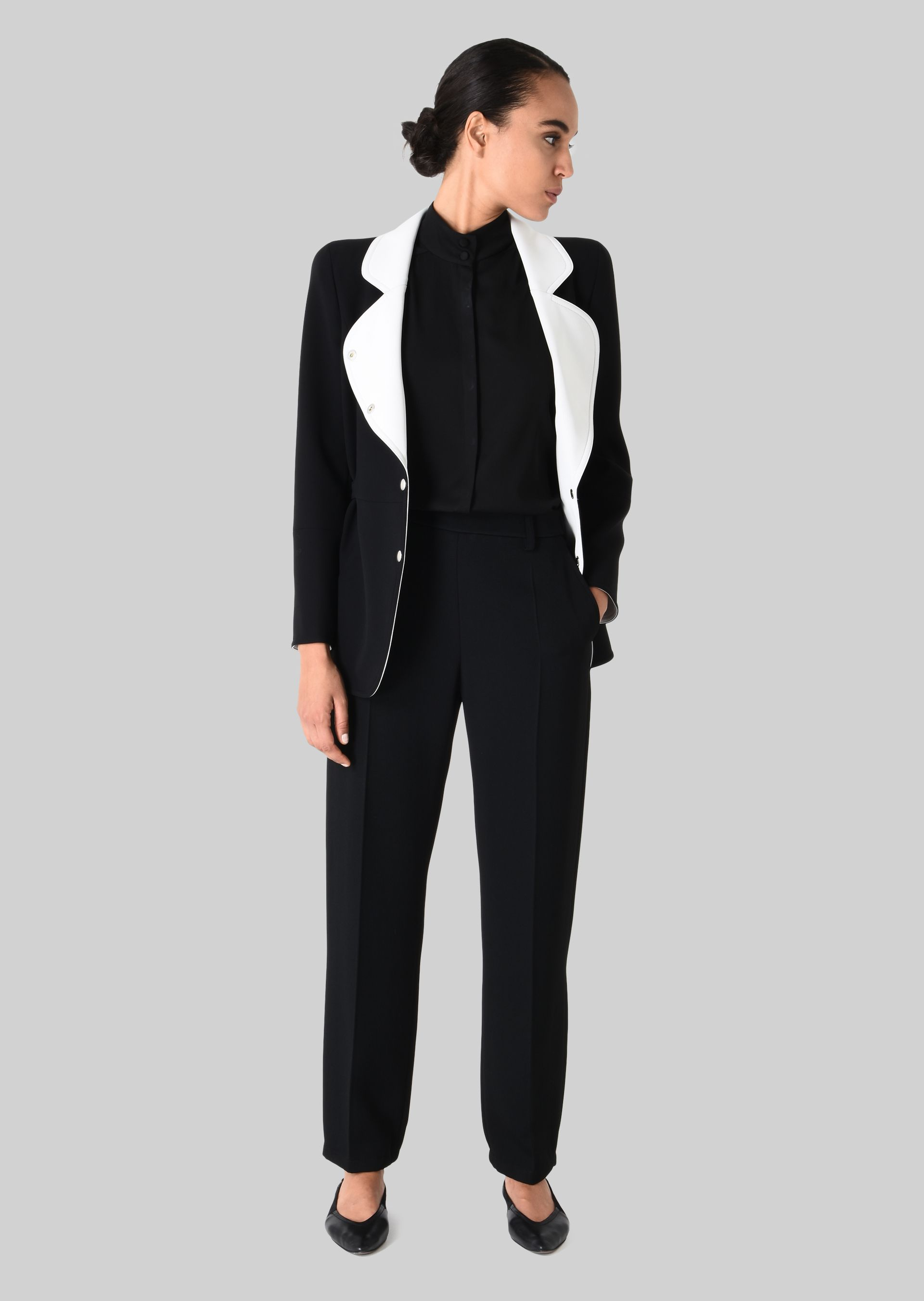 GIORGIO ARMANI CLASSIC TROUSERS IN TECHNICAL FABRIC Pants D f