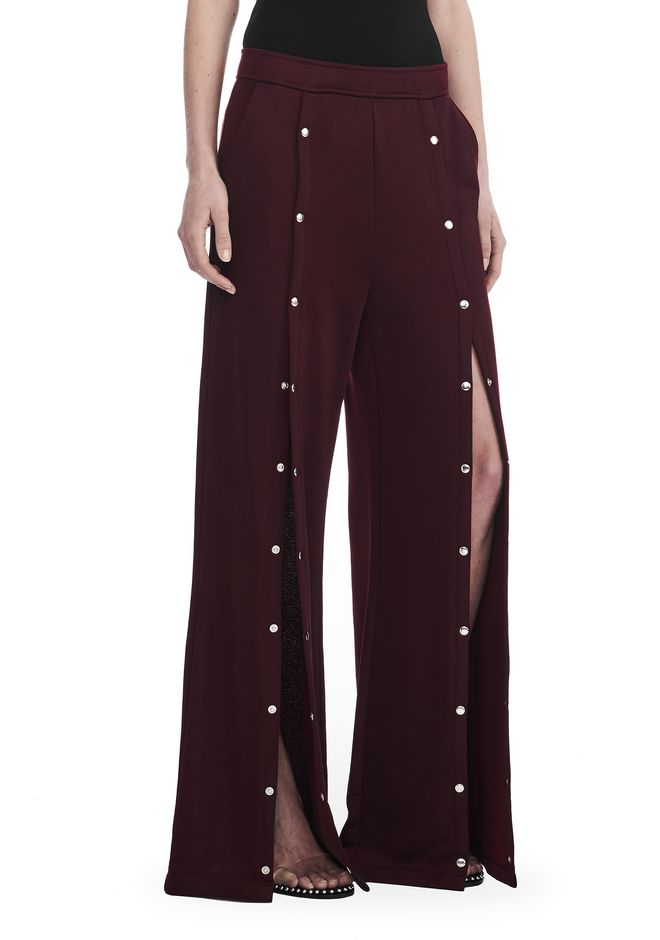 T by ALEXANDER WANG PANTS Women WIDE LEG PULL ON PANTS WITH SNAPS