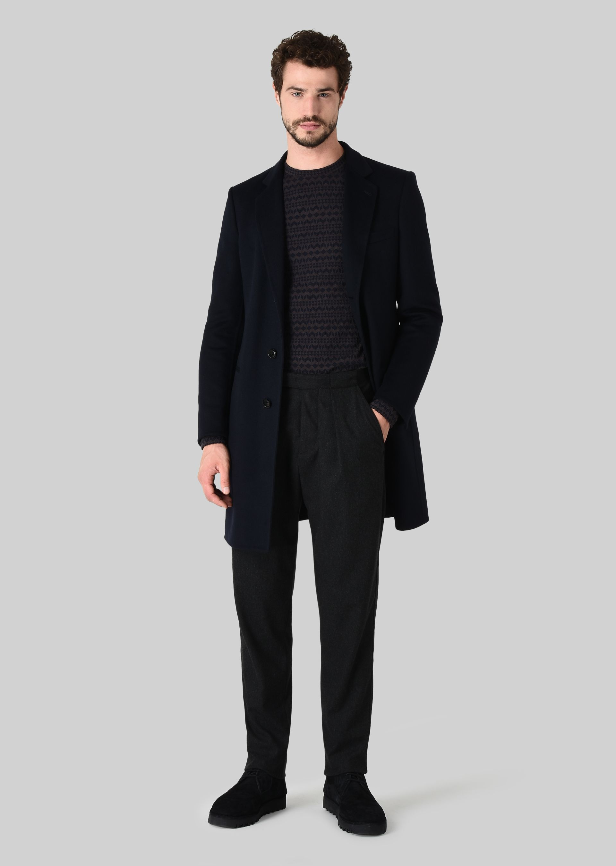 GIORGIO ARMANI CASUAL TROUSERS IN DOUBLE WOOL FABRIC Casual Trousers U f