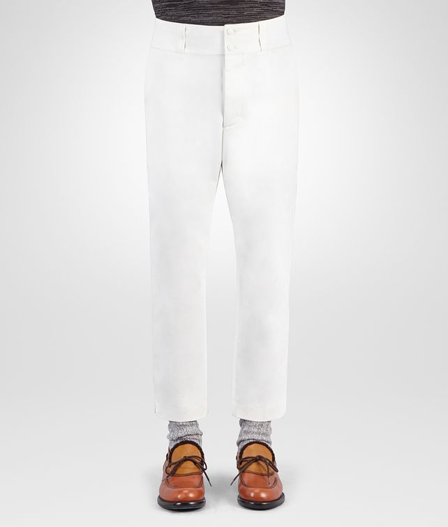 BOTTEGA VENETA LATTE COTTON PANT Trouser or jeans Man fp