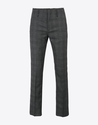 MAISON MARGIELA Trousers U Cropped check trousers f