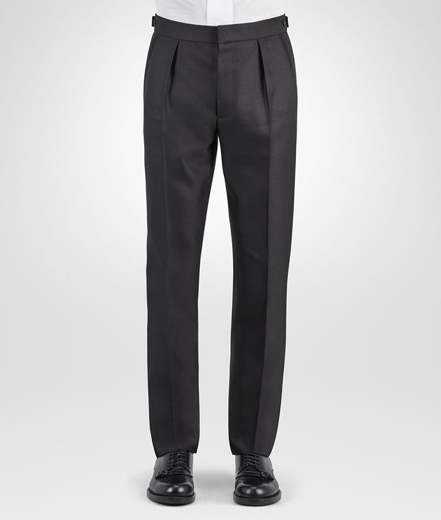 BOTTEGA VENETA NERO WOOL SILK TWILL TUXEDO PANT Trouser or jeans Man fp
