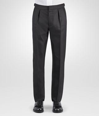 黑色羊毛丝绸斜纹燕尾服长裤
