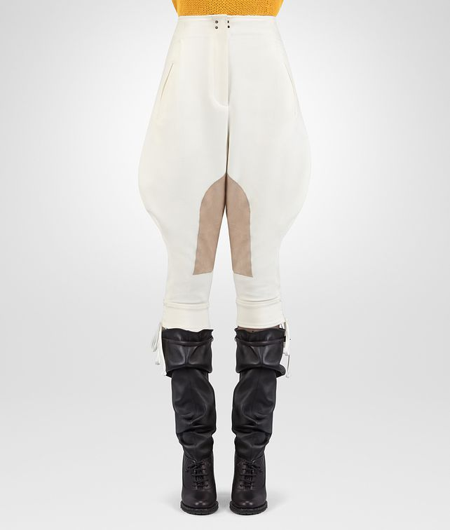 BOTTEGA VENETA LATTE CAVALRY TWILL PANT Skirt or trouser D fp
