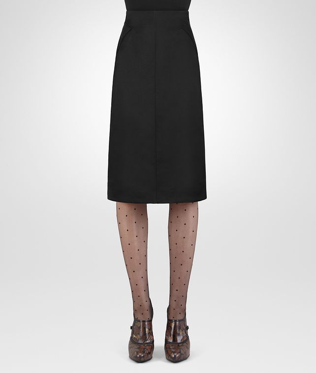 BOTTEGA VENETA NERO WOOL SILK SKIRT Skirt or trouser Woman fp