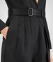 BOTTEGA VENETA NERO SILK COTTON TWILL JUMPSUIT Dress D ap