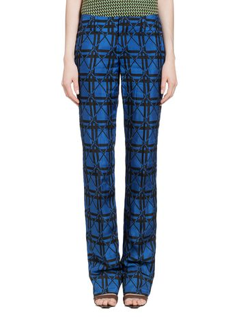 Marni Trousers in check jacquard Woman
