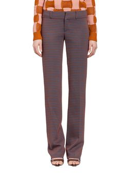 Marni Trousers in micropattern red Woman