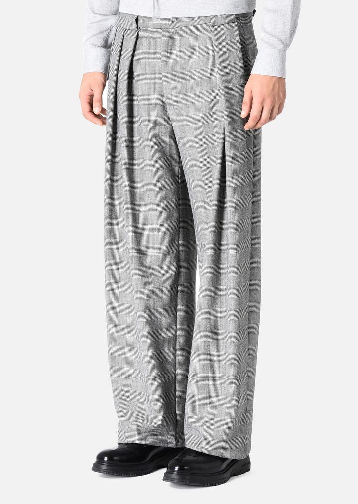 pantaloni in lana principe di galles con pinces uomo. Black Bedroom Furniture Sets. Home Design Ideas