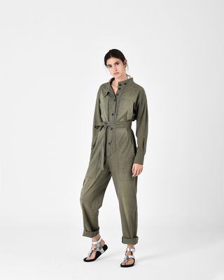 ISABEL MARANT ÉTOILE JUMPSUIT Woman LUCIA chambray trouser suit r