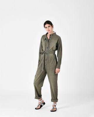 ISABEL MARANT ÉTOILE JUMPSUIT D LUCIA chambray trouser suit r