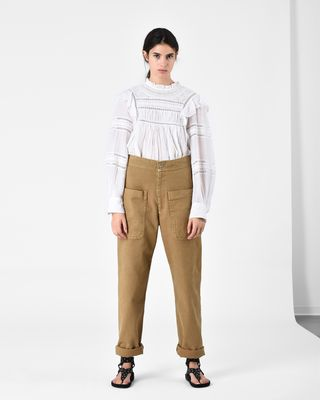 LANA cotton trousers