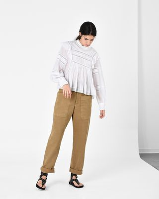 ISABEL MARANT ÉTOILE TROUSER Woman LANA cotton trousers r