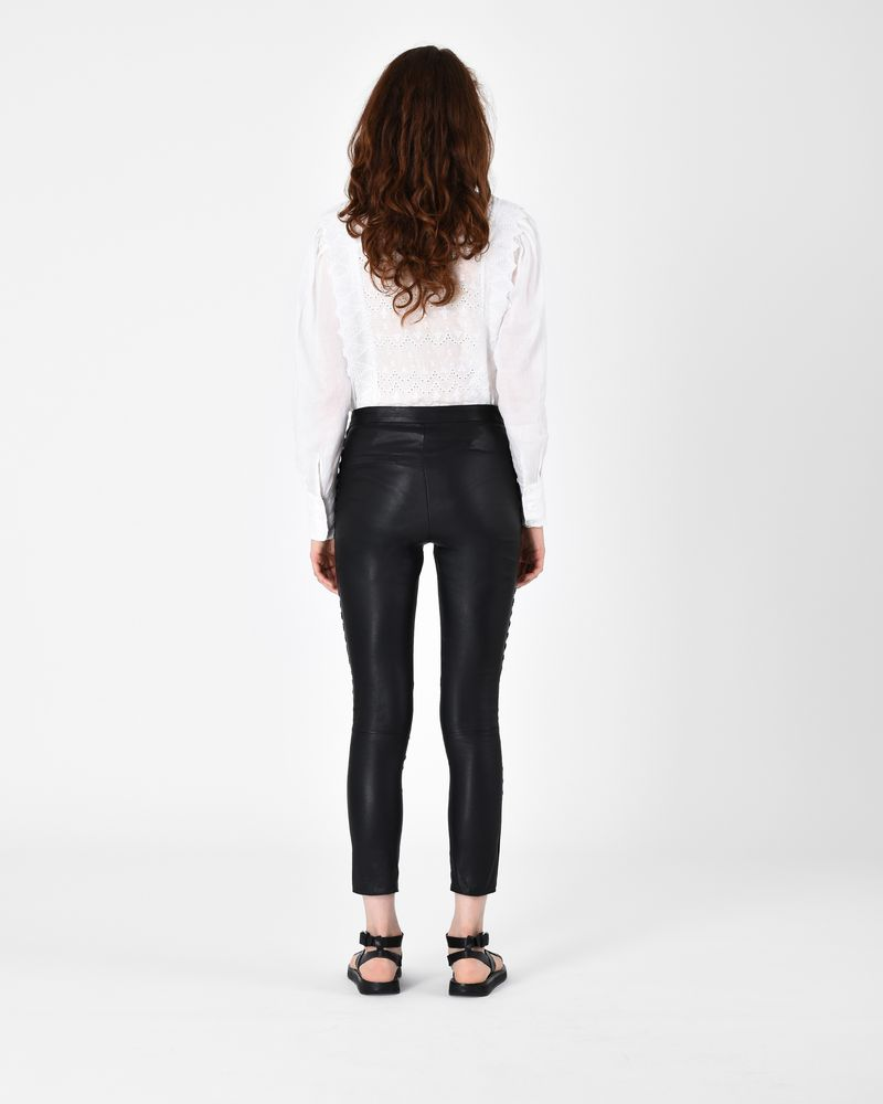 PRETLEY leather trousers ISABEL MARANT