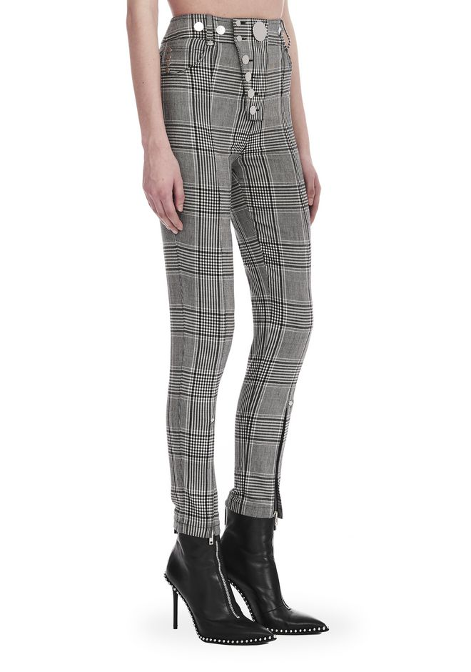 ALEXANDER WANG PANTS Women CHECK TAILORING HIGH WAISTED LEGGING