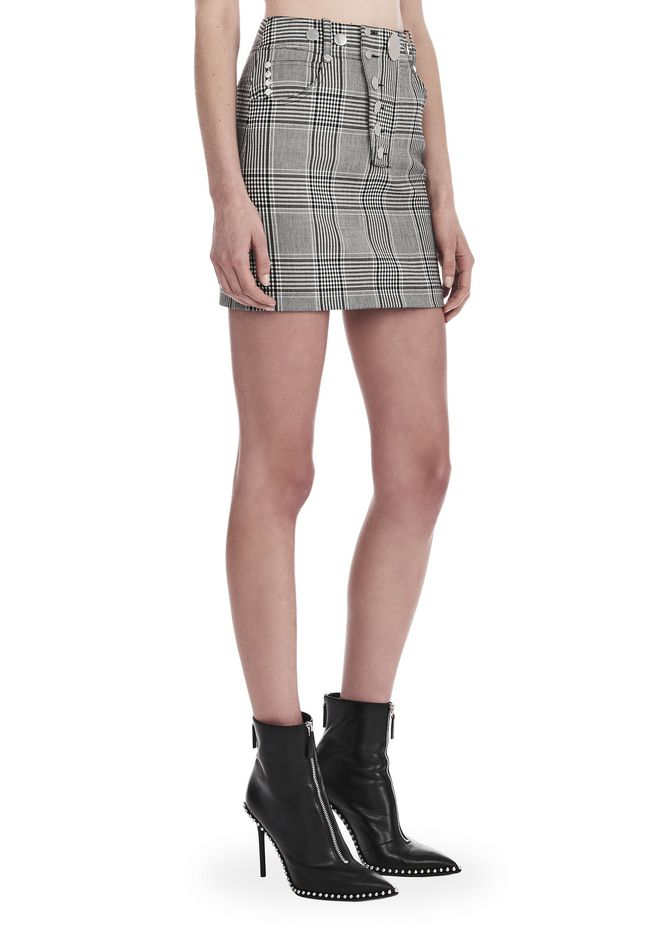 ALEXANDER WANG SKIRTS Women CHECK TAILORING HIGH WAISTED MINI SKIRT
