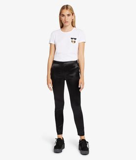 KARL LAGERFELD KARL SLIM FIT SATIN PANTS
