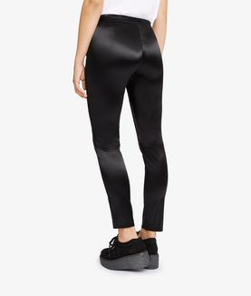 KARL LAGERFELD KARL SLIM FIT SATIN TROUSERS