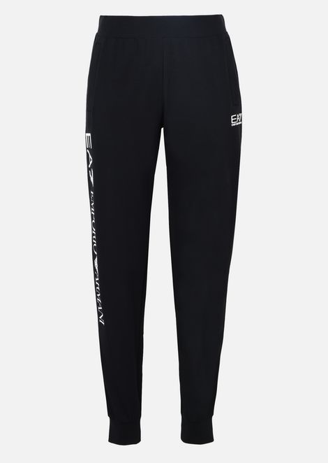 Jogging trousers in stretch cotton