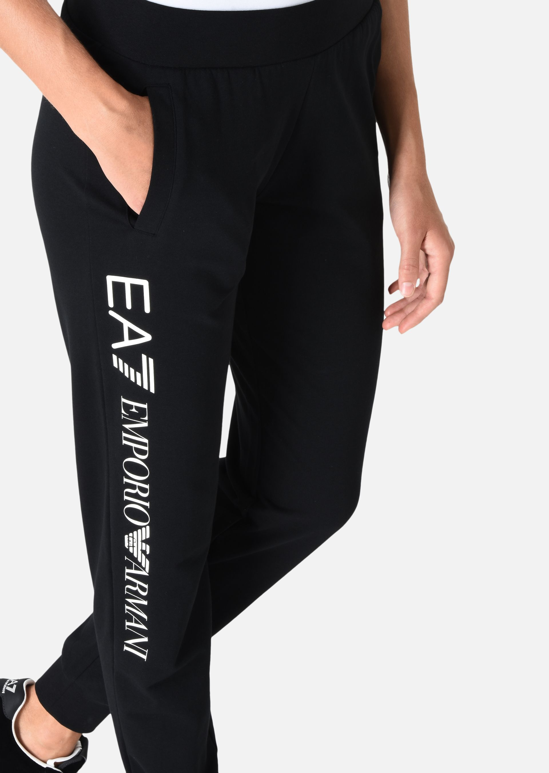 EMPORIO ARMANI Jogging trousers in stretch cotton Sweatpants D a