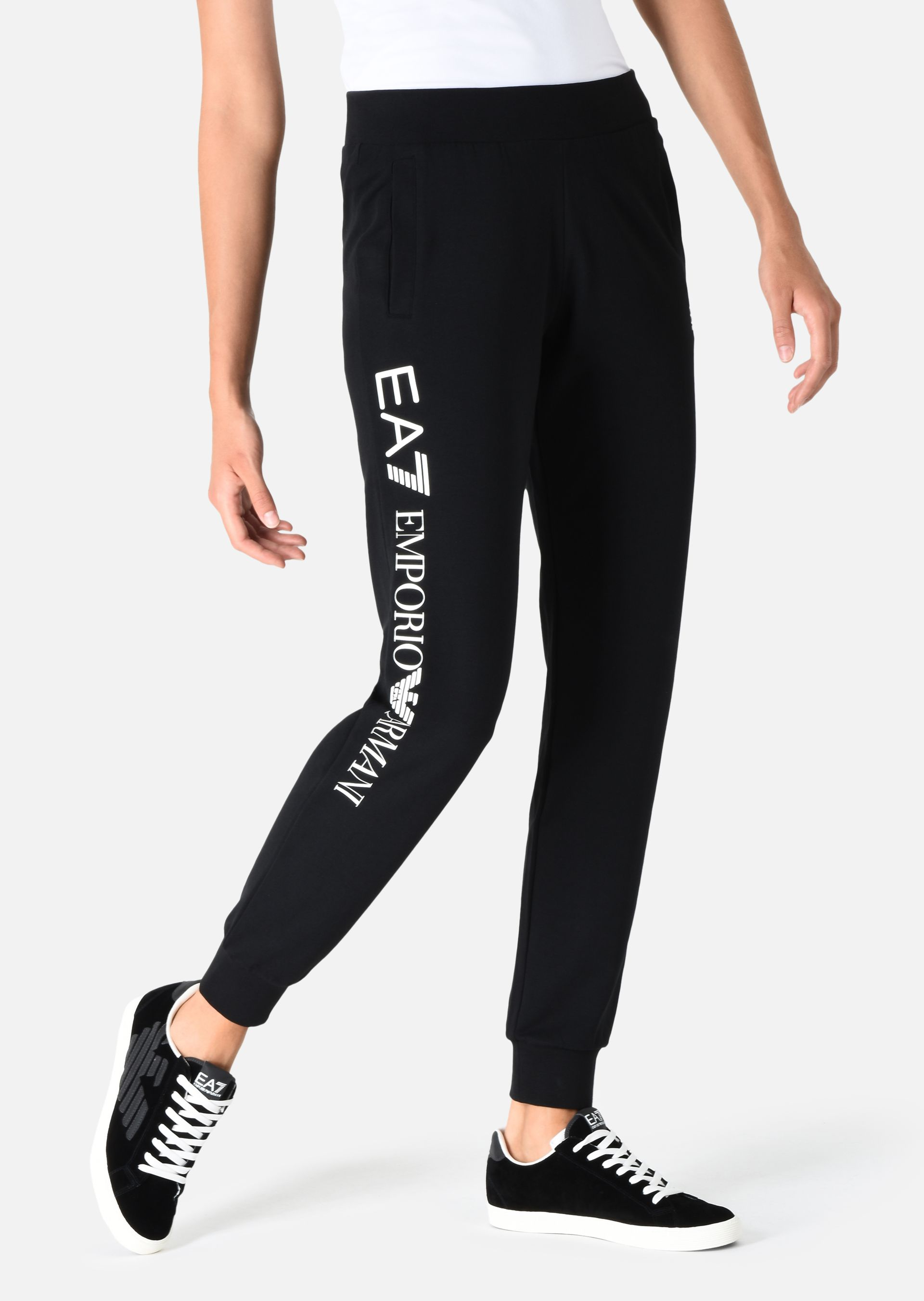 EMPORIO ARMANI Jogging trousers in stretch cotton Sweatpants D d