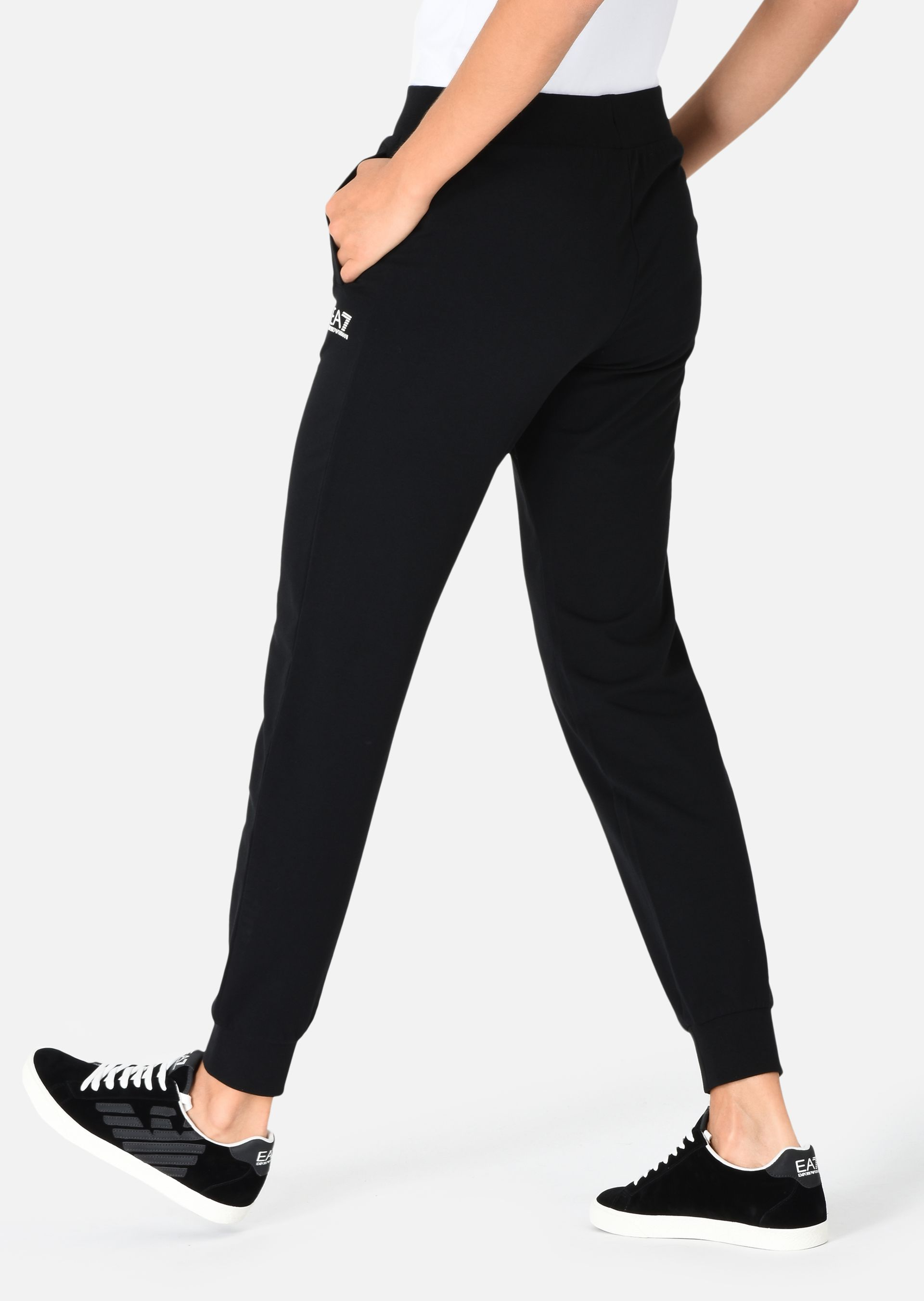 EMPORIO ARMANI Jogging trousers in stretch cotton Sweatpants D e