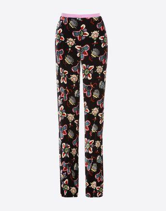Popflower Grande print trousers