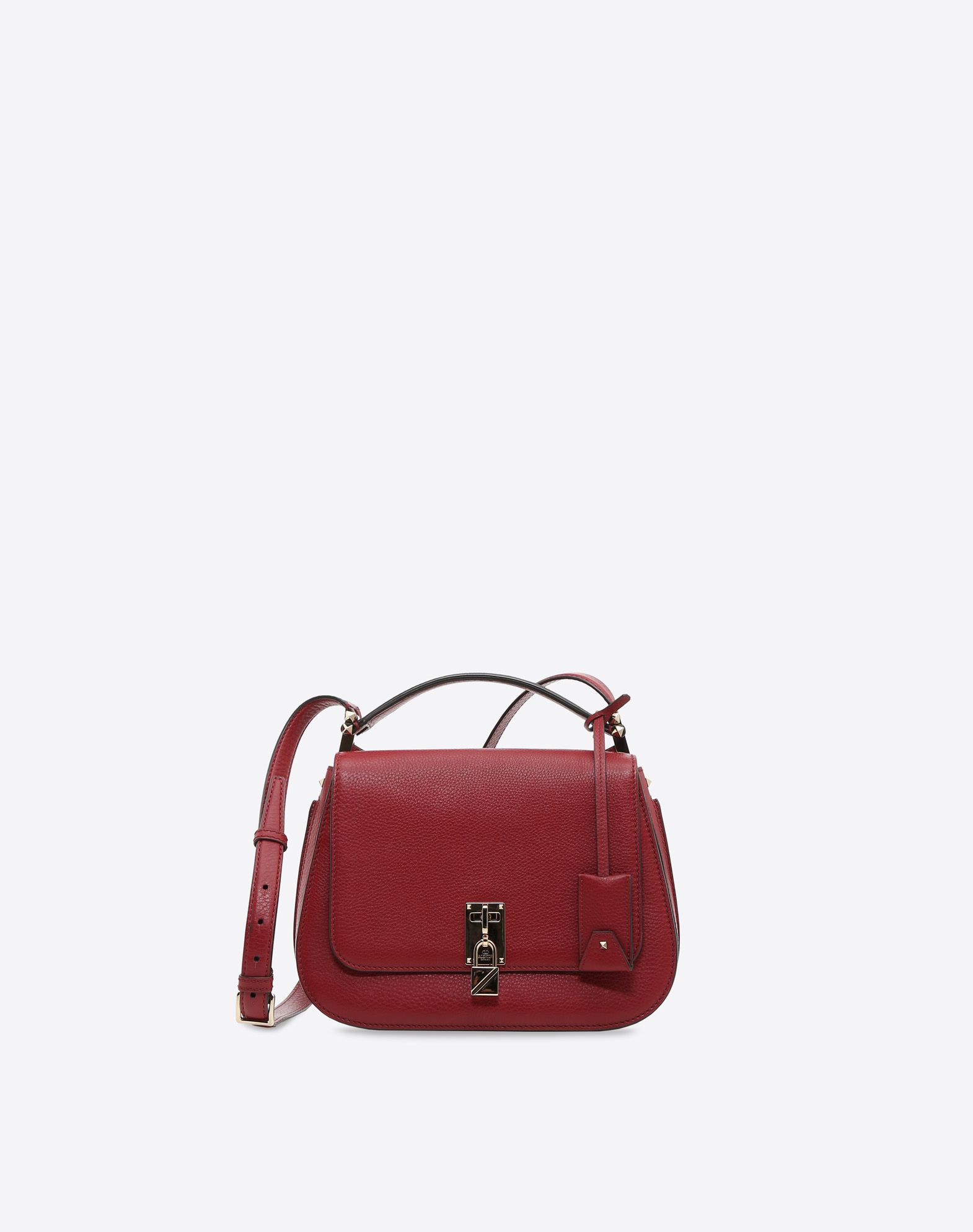 VALENTINO Textured leather Logo Logo Framed closure External pockets Internal compartments Leather straps  13080488vp