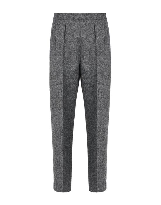 MAISON MARGIELA Cropped wool tweed trousers Casual pants Woman f