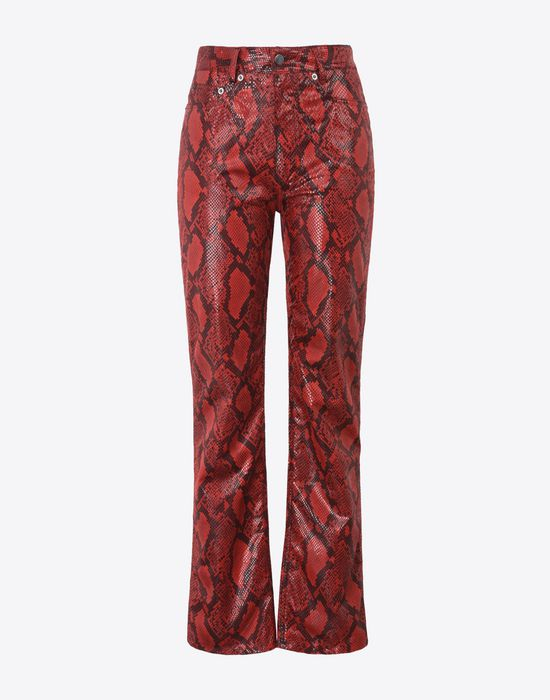 MAISON MARGIELA Faux snakeskin trousers Casual pants Woman f