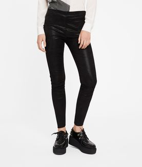 KARL LAGERFELD SPARKLE LEATHER LEGGINGS