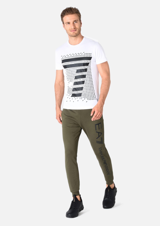 EMPORIO ARMANI PANTALONI IN COTONE Pantaloni in Felpa U f