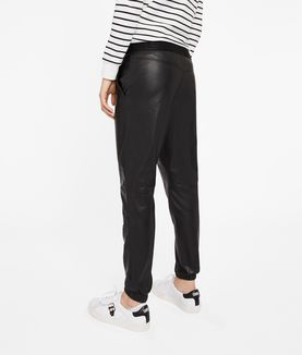 KARL LAGERFELD LEATHER TRACK PANTS