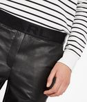 KARL LAGERFELD Leather Track Pants 8_e