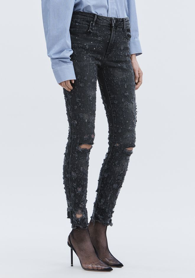 ALEXANDER WANG denim-x-aw WHIPLASH DESTROYED JEAN