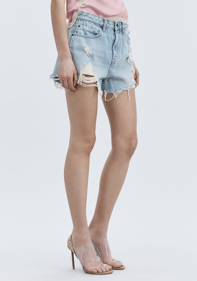 ALEXANDER WANG denim-x-aw ROMP OVERSIZED SHORTS