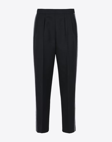 MAISON MARGIELA Tricotine trousers with side stripes Casual pants D f