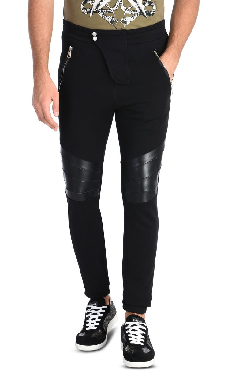 JUST CAVALLI Joggers with zip Casual pants Man f