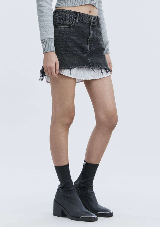 ALEXANDER WANG denim-x-aw HI RISE DENIM MINI SKIRT
