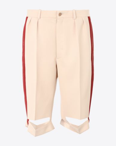MAISON MARGIELA Cut-out wool culottes Shorts D f