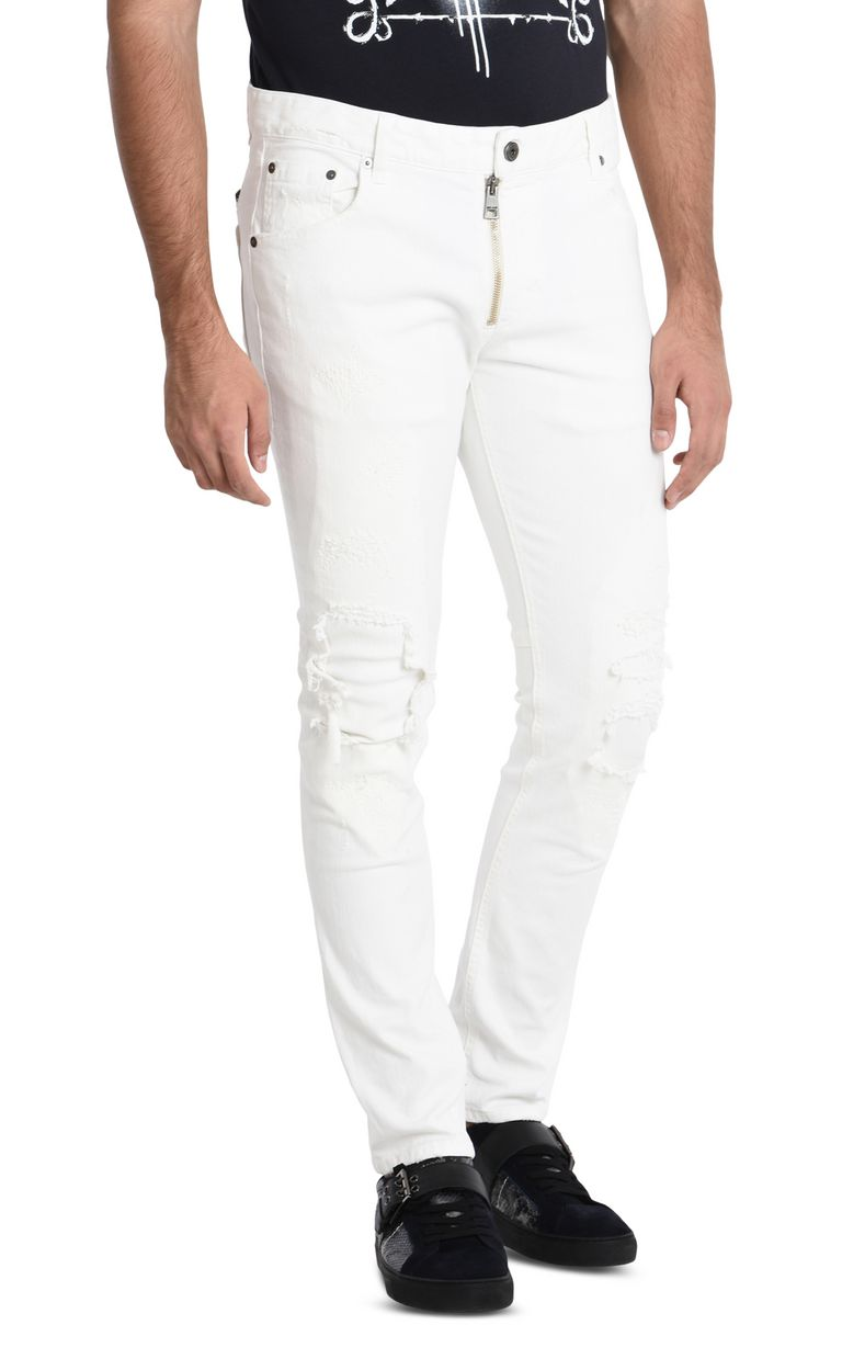 JUST CAVALLI Worn-effect jeans  Casual pants U f