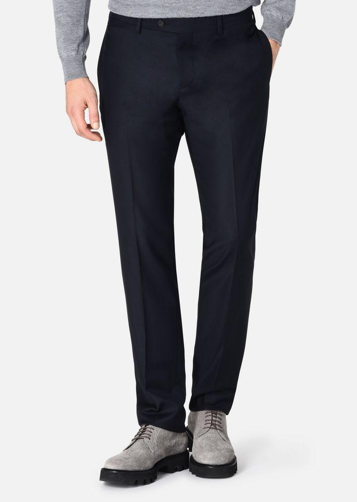 hot sale online 04871 8b863 Pantaloni slim in fresco lana