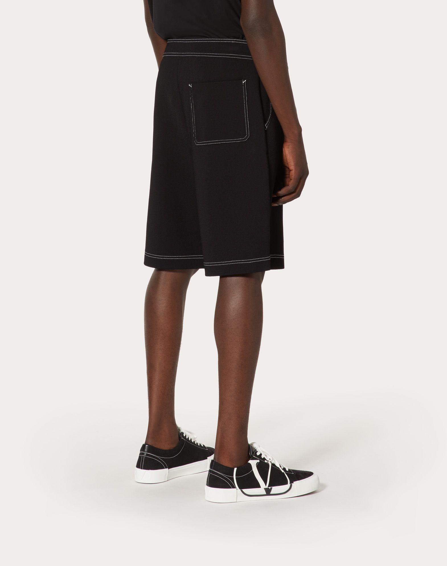 VALENTINO UOMO Cropped knit trousers with VLTN logo Shorts U e