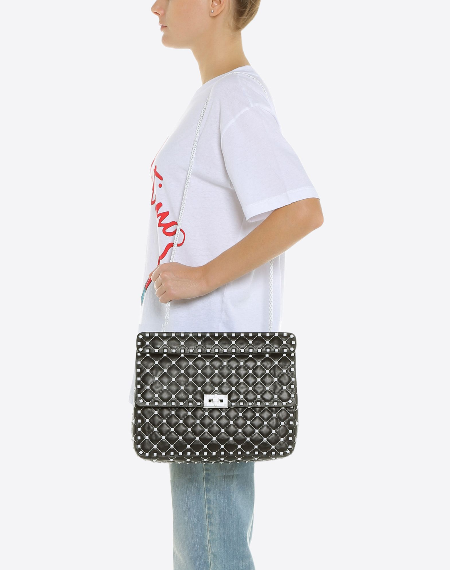 VALENTINO GARAVANI Free Rockstud Spike Chain Bag Shoulder bag D a