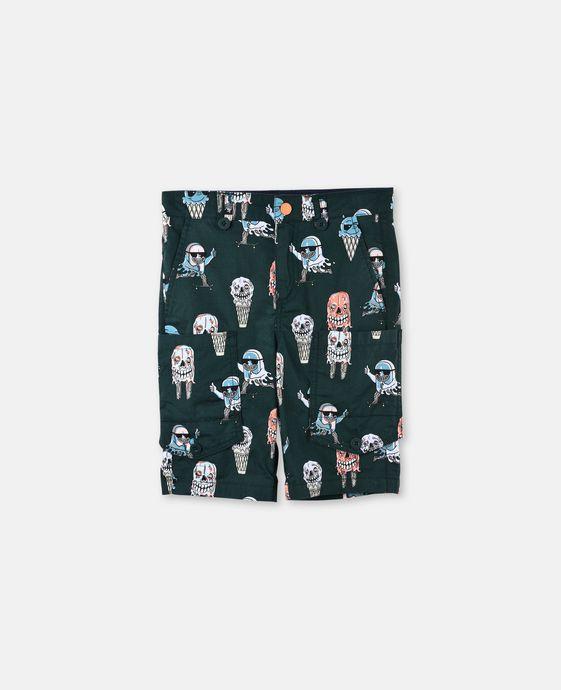 Pine Ice Cream Print Shorts